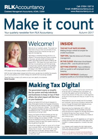 Make it Count Magazine for Accuntants