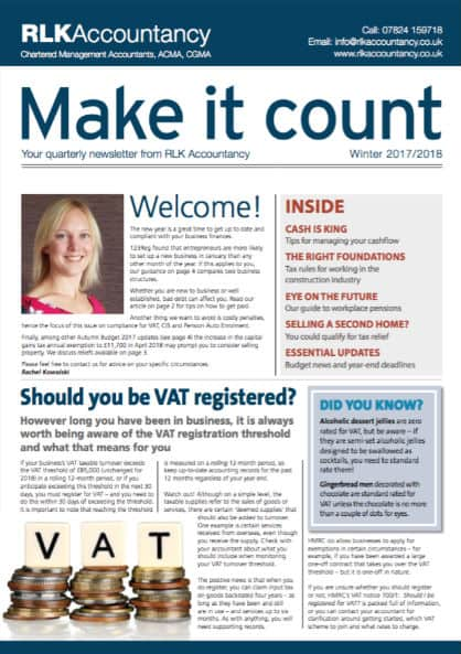 Make it Count Magazine for Accountants